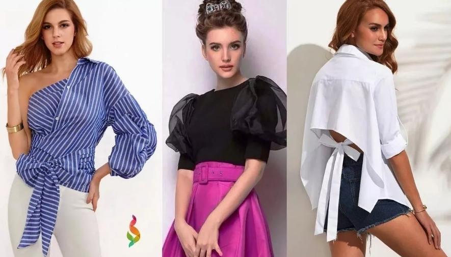 Блузки с объемными рукавами
