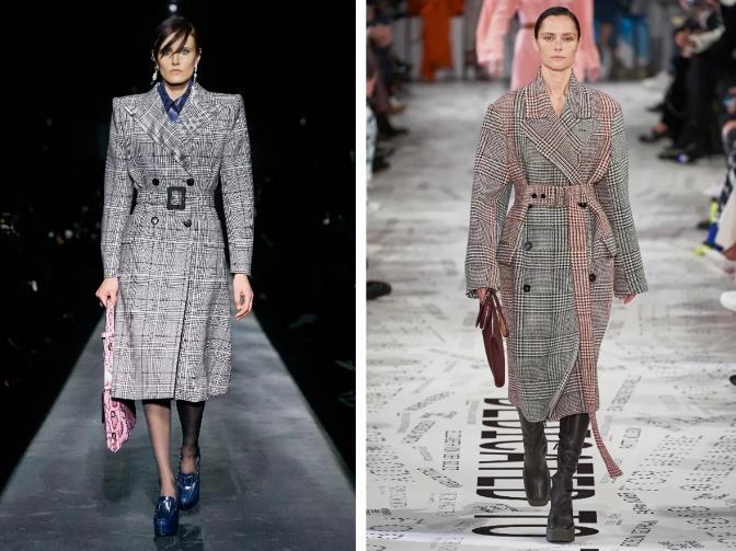 Женские пальто 2020: принт клетка