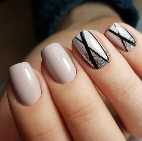 Дизайн ногтей минимализм