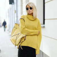 Женские свитера 2019-2020: стильные образы с юбками – фото
