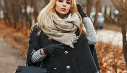 Как носить большой шарф