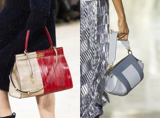 тренд 2020 двухцветная женская сумка