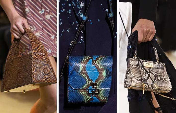 модные женские сумки под рептилию 2020