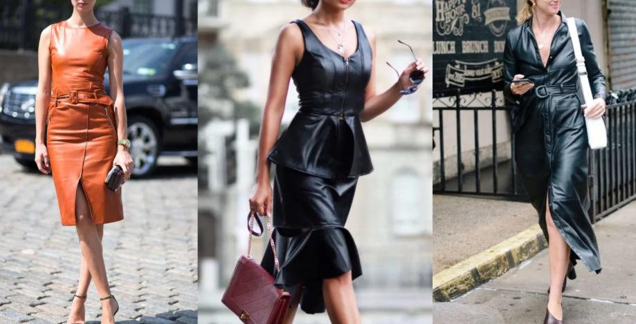 кожаные платья 2020