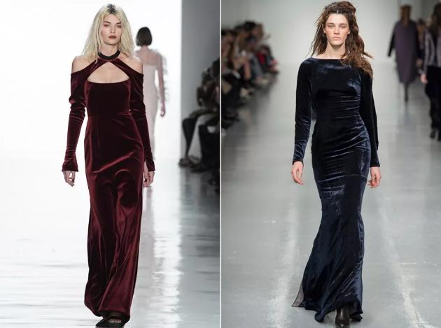 бархатные платья 2020