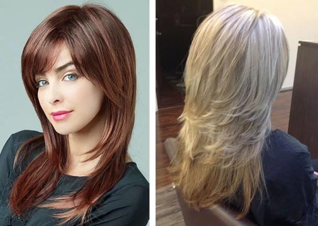 стрижка каскад на среднюю длину волос фото