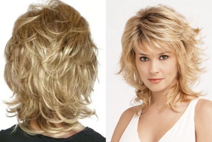 стрижка каприз на средние волосы фото