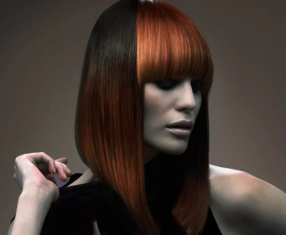 удлиненное каре на средние волосы с челкой
