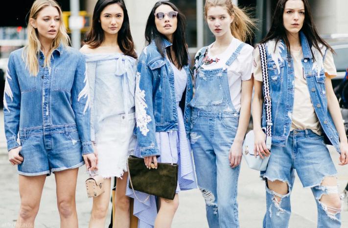 женская джинсовая одежда лето 2020