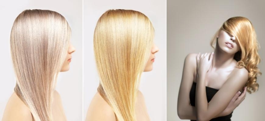красивые блонд волосы