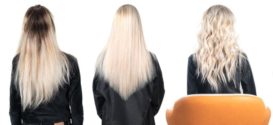 блонд в с разными прическами
