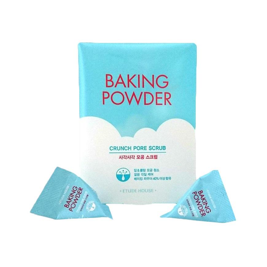 Кремообразный густой скраб в саше Etude House Baking Powder Crunch Pore Scrub для сужения пор с содой