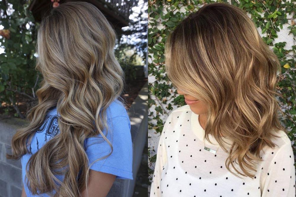 мелирование на русые волосы, модные тенденции и тренды фото 2019 1