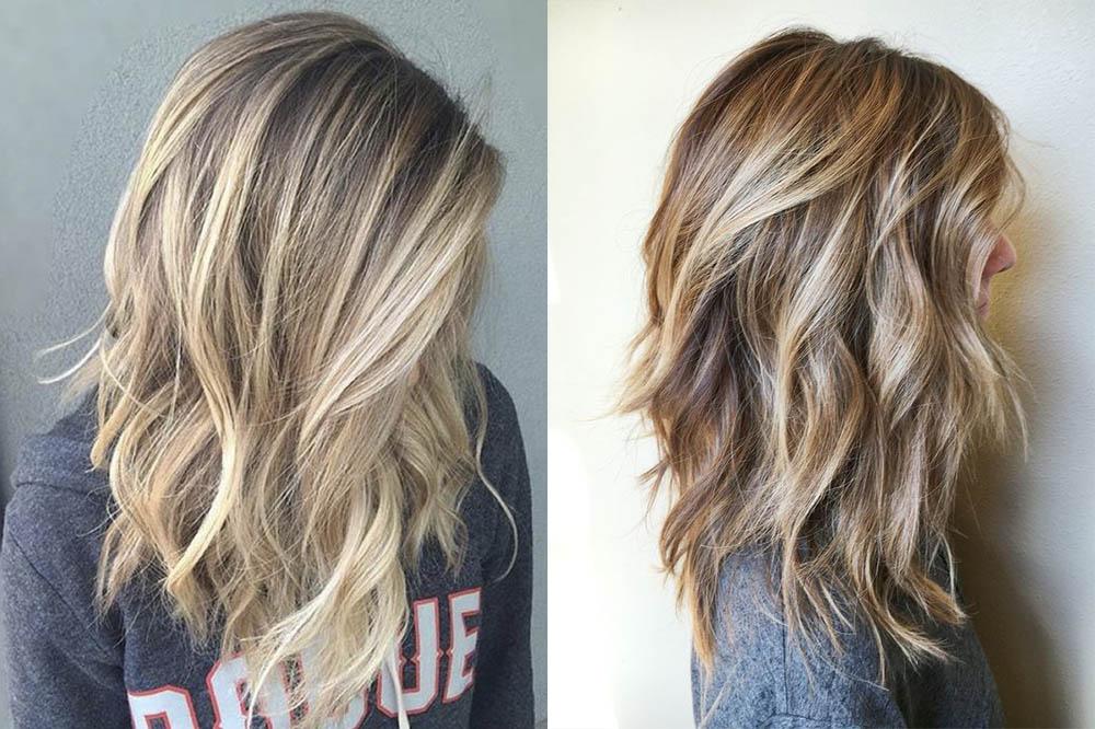 мелирование на русые волосы средней длины фото 2