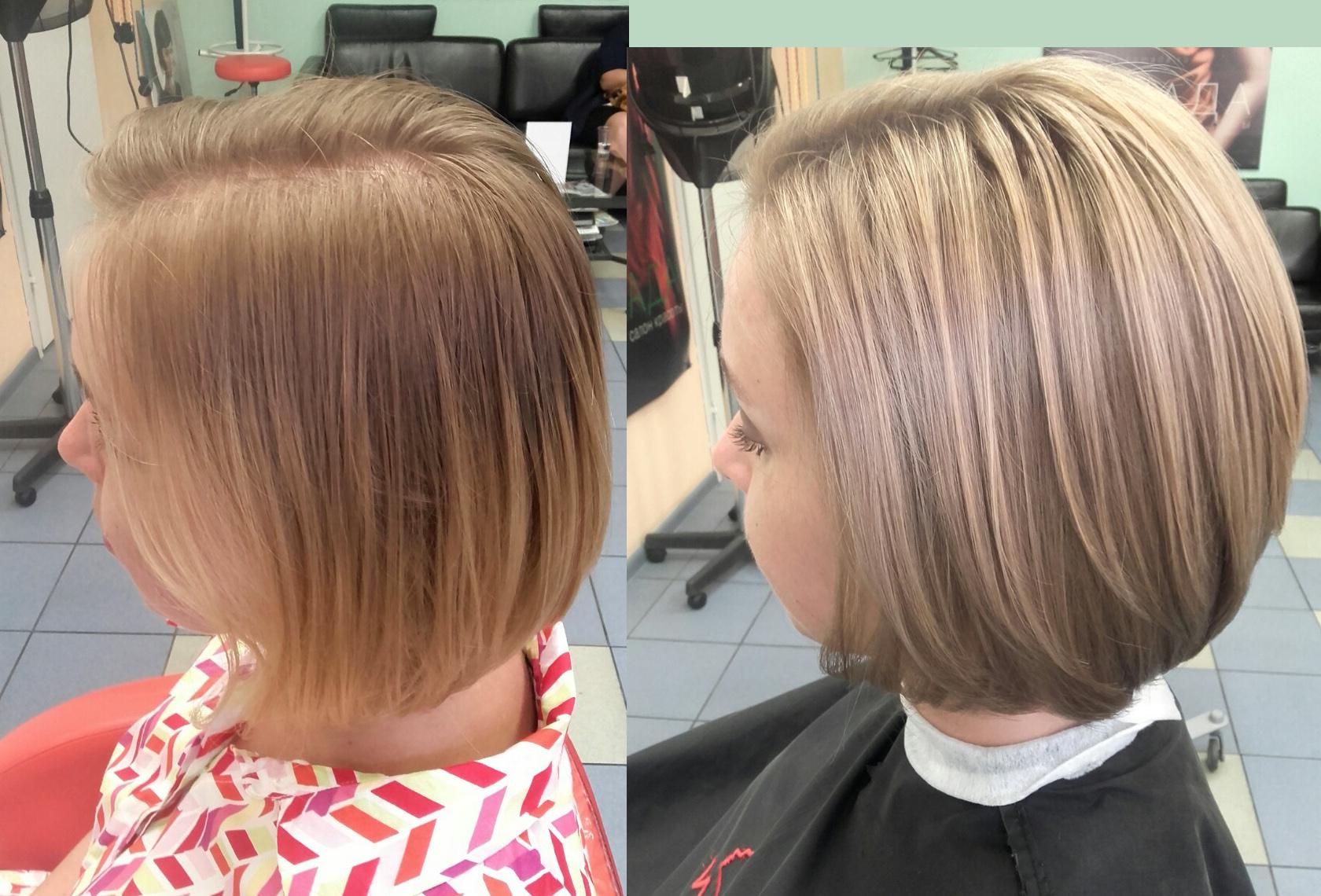 мелирование русых волос короткой длины фото 1