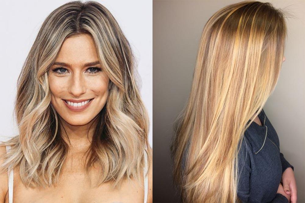 мелирование на русые волосы, модные тенденции и тренды фото 2019 4