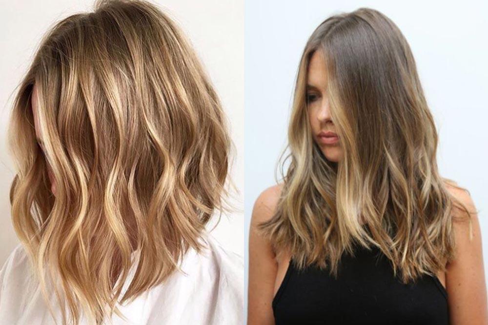 мелирование на русые волосы, модные тенденции и тренды фото 2019 6