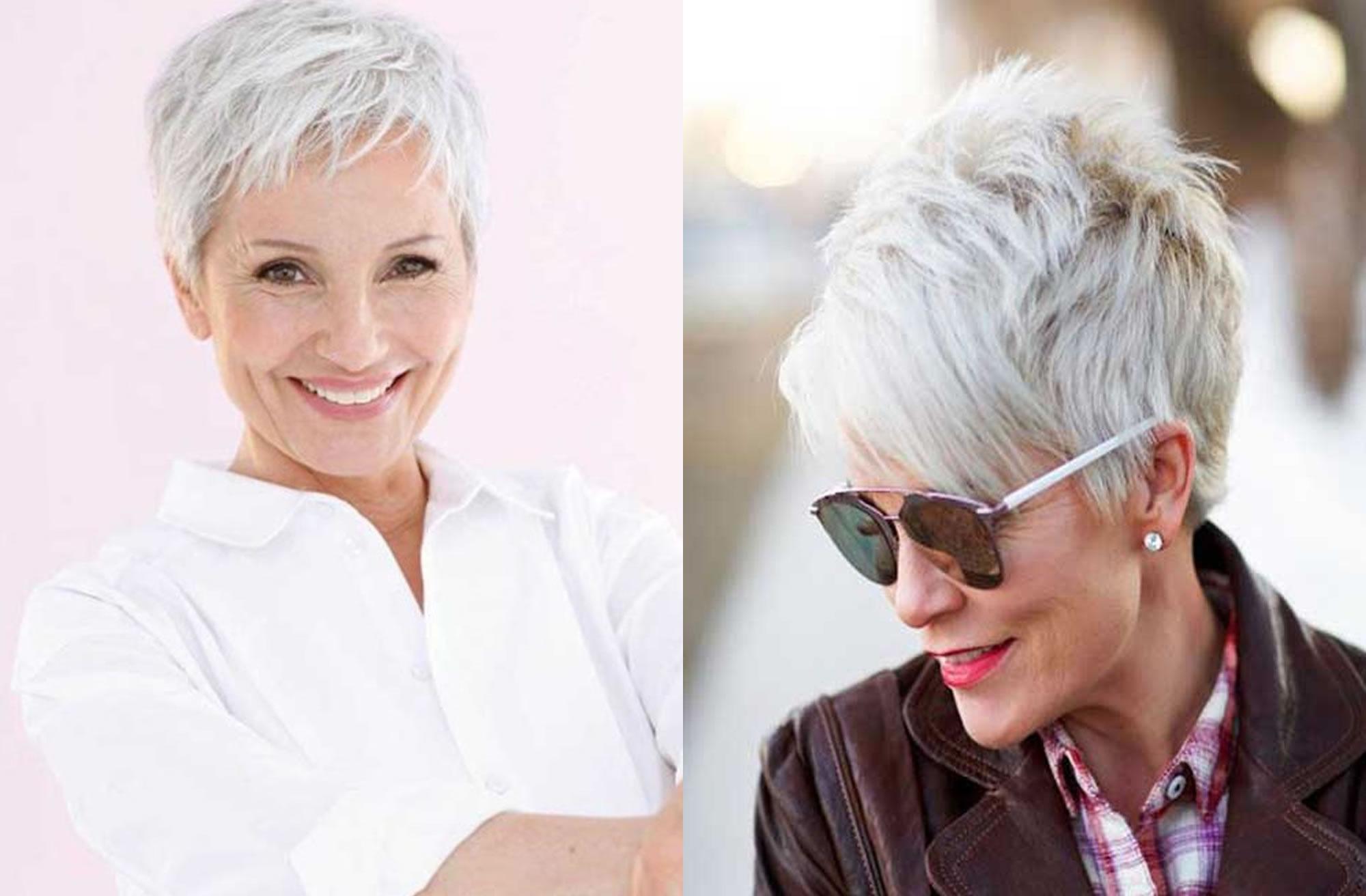 модные стрижки 2019 на короткие волосы для женщин за 50 лет, фото новинки 4