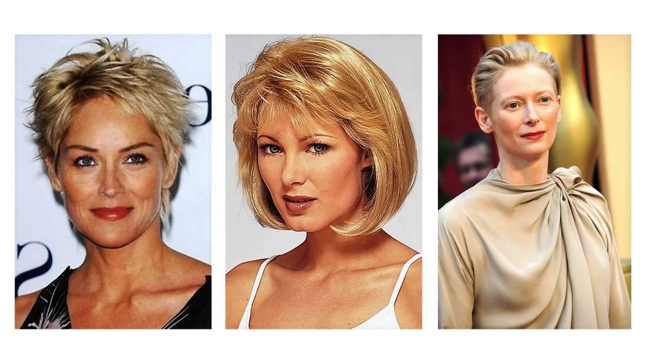модные стрижки 2019 на короткие волосы для женщин за 50 лет, фото новинки 5