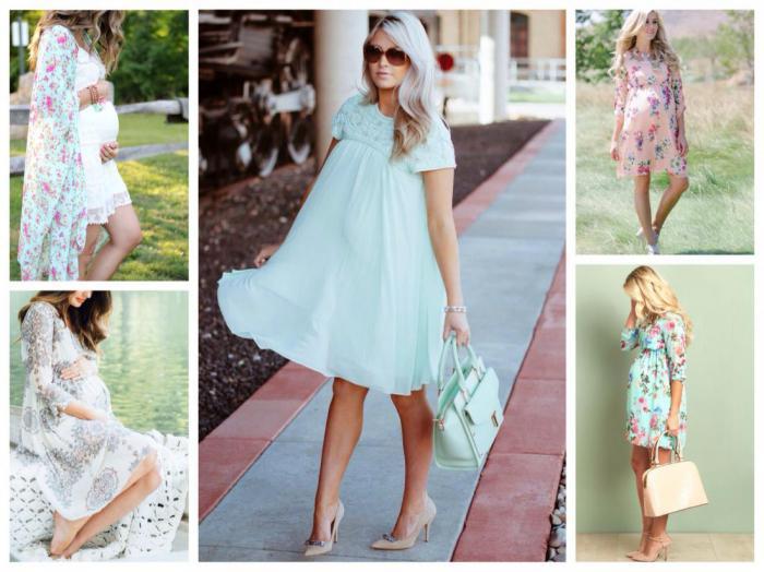 платья и юбки в пол для беременных, модные тенденции 2019 фото 1