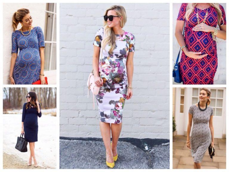 платья и юбки в пол для беременных, модные тенденции 2019 фото 2
