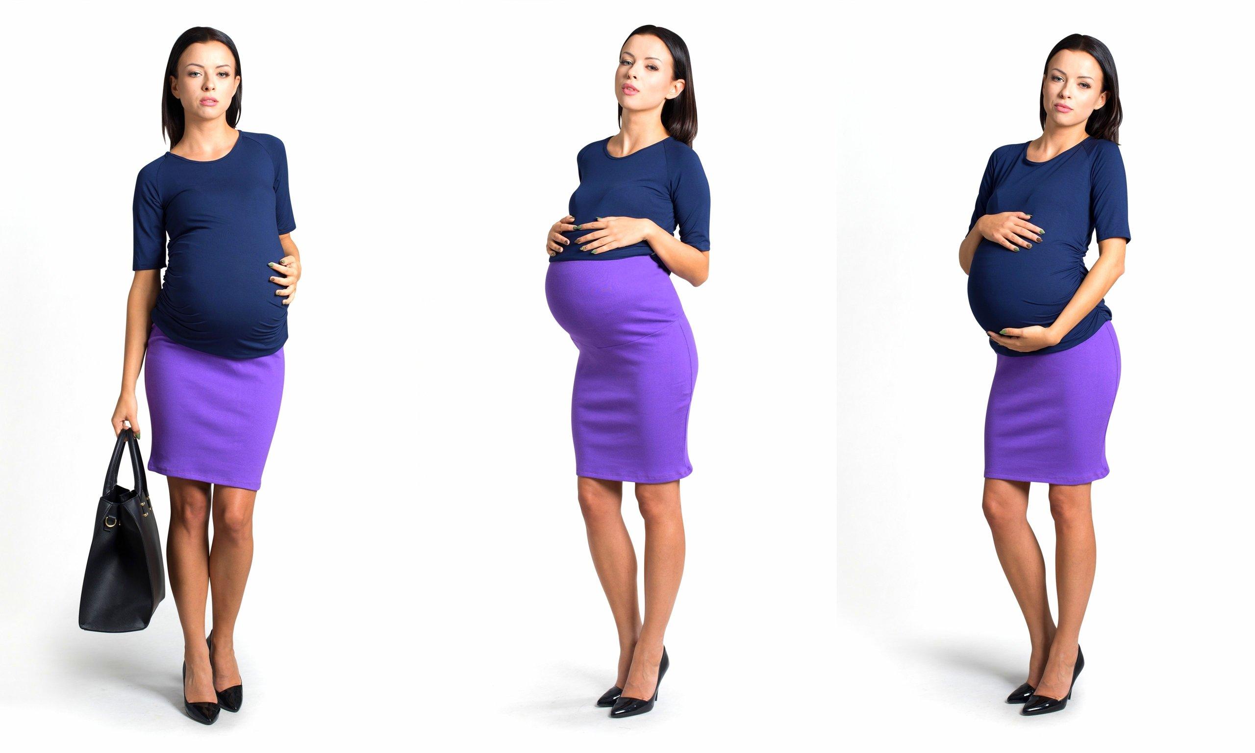 платья и юбки в пол для беременных, модные тенденции 2019 фото 8