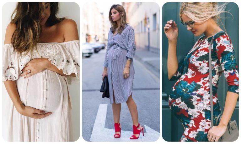 модные платья для беременных весна-лето 2019 фото 4
