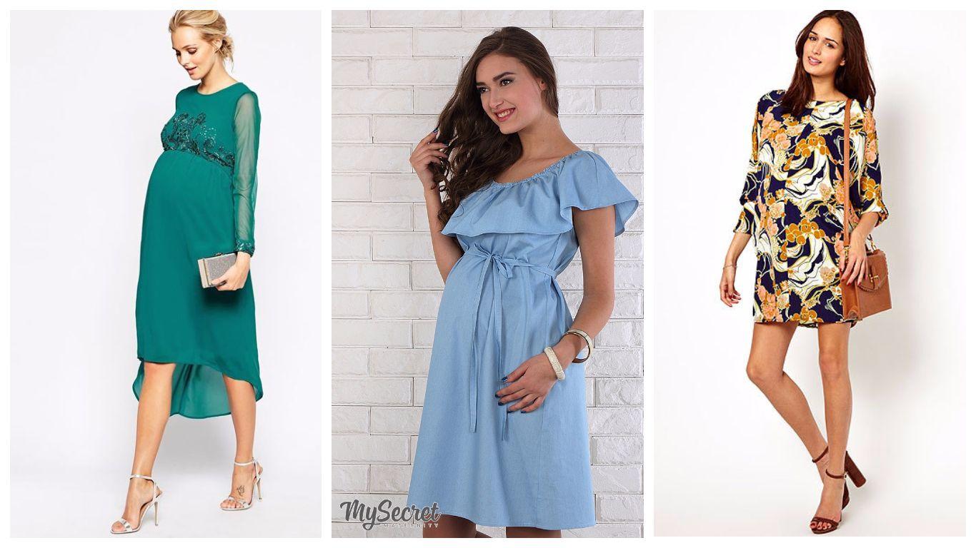 модные платья для беременных весна-лето 2019 фото 5