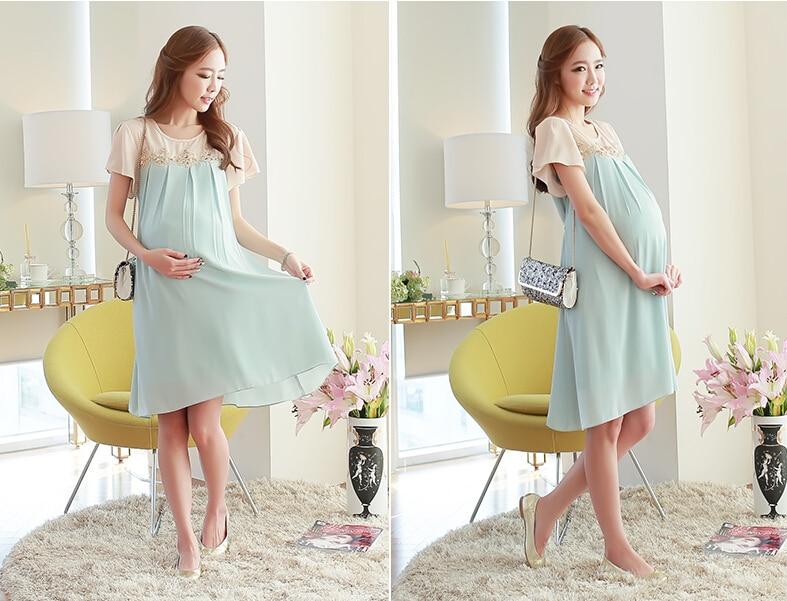 модные платья для беременных весна-лето 2019 фото 6