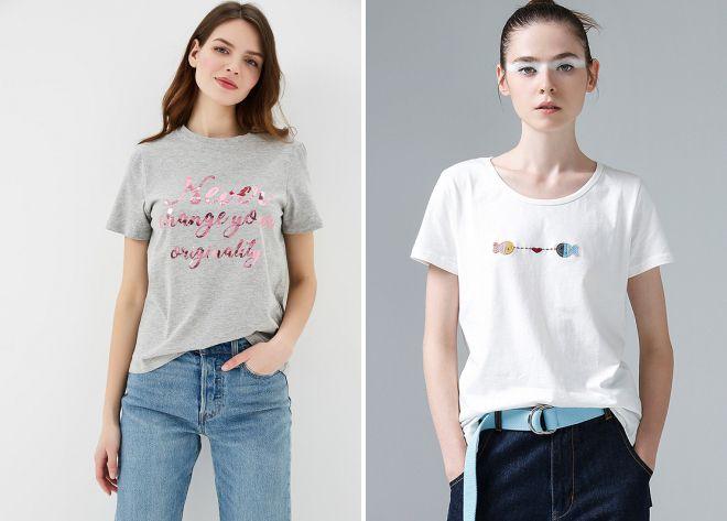 самые модные футболки, топы и майки весна-лето 2019 фото 5