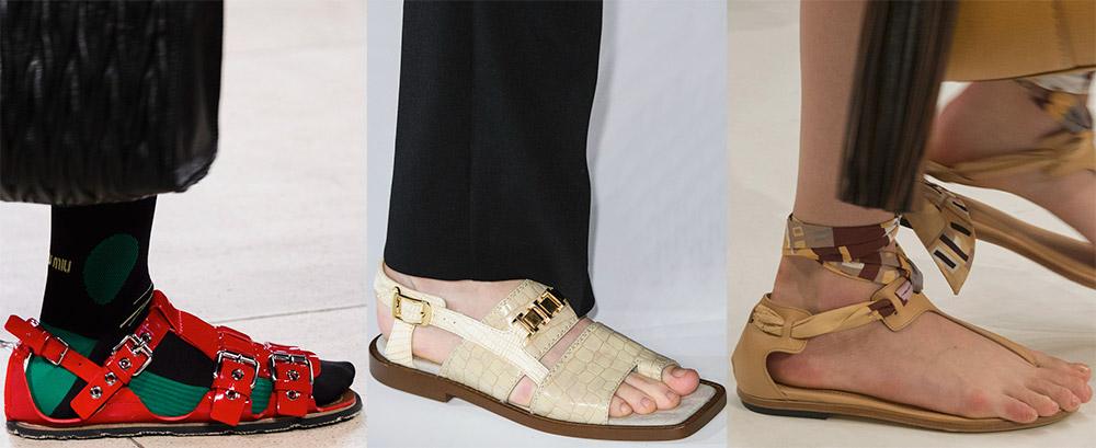 модные сандалии лето 2019, фото новинки 9
