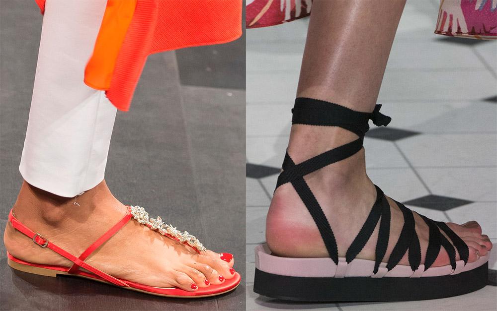 модные сандалии лето 2019, фото новинки 10