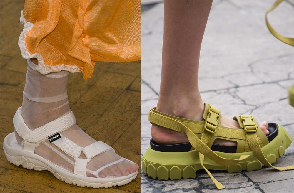модные сандалии лето 2019, фото новинки 5