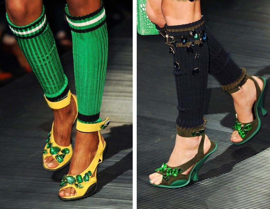 4 тренд - туфли в сочетании с гетрами и носками фото 1